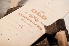 Old Skateboards / Limited Edition #typography