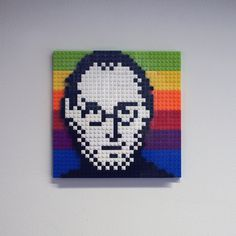 Steve Jobs: pixelized, legolized and worshipped. #steve #apple #lego #legoapplestevejobs #jobs