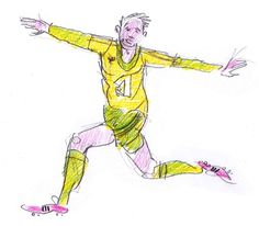 Specialmagazin #illustration #drawing #man #football #soccer #character