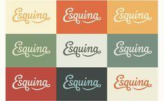 Claire Coullon // Esquina #script #lettering #identity #color