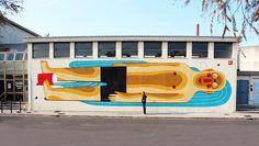 Agostino Iacurci, murales, Illustration, street art, LTVs, Lancia TrendVisions #illustration #murales #art #street