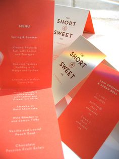 The Short & Sweet Co. #logo #menu #design #branding