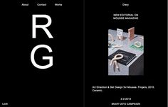 Rio Grande, inspiration N°280 published on The Gallery in date August 4th, 2015. #website #typography #design