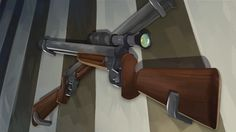 Leonel Toribio - Blog #rifle #scope #digital #painting #wallpaper