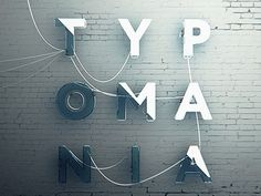 TYPOMANIA #movie #letters #concrete #facade #neon #look #typomania #digital #cinema #drive #poster #type #typography