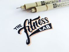 The Fitness Lab by Matt Vergotis #inspiration #creative #lettered #personalized #design #illustration #logo #hand