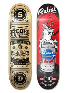 REBEL ROCKERS #skateboard #skateart #illustration #graphicdesign #endordesigns