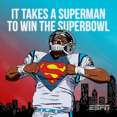 ESPN NFL Illustrations TIM™ #panthers #newton #nfl #cam #illustration #sports #football #drawing #superman