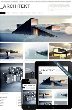 Architekt Theme #architekt #design #home #contemporary #architecture