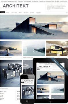 Architekt Theme #design #architecture #contemporary #home #architekt