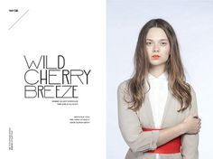 Wild Cherry Breeze | Volt Café | by Volt Magazine #beauty #design #graphic #volt #photography #art #fashion #layout #magazine #typography