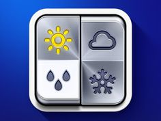 'Weather On' iPhone App Icon #metal #dribbble #weather #icon #ramotion #appstore #iphone #behance #app #ios #switcher