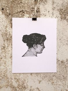 Woman, Turning - 8 x 10 Mini Poster #pose #woman #classic #kitsch #retro #head #classical #bust #illustration #vintage #etching #female