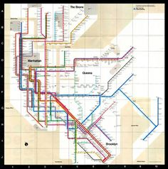 Massimo Vignelli 1972 Subway Map