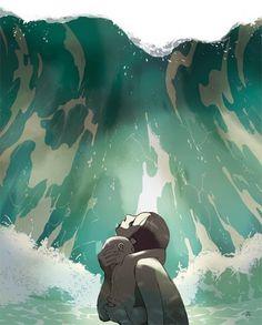 Tomer Hanuka #tomer #hanuka #atlantis #tsunami