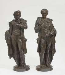 FRIEDRICH SCHILLER UND JOHANN WOLFGANG VON GOETHE, Albert Ernest Carrier-Belleuse (1824 Anizy-le-Château - 1887 Sèvres), nach