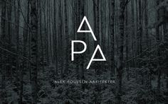 Visuel identitet til Alex Poulsen Arkitekter | Re-public #architect #branding #identity #logo #typography