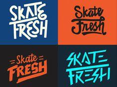 typography, type, logo, skateboarding