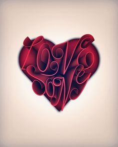 Love Song on the Behance Network #heart #song #type #love #typography