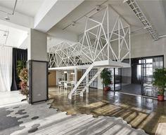 Mu-Mu Photography Studio by Han Yue Interior Design Co. - InteriorZine #stairs #staircase #stairway