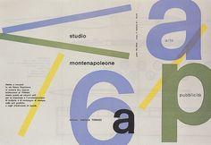 Max Huber, Studio Montenapoleone, 1955 #max #huber #design #graphic #1955 #poster