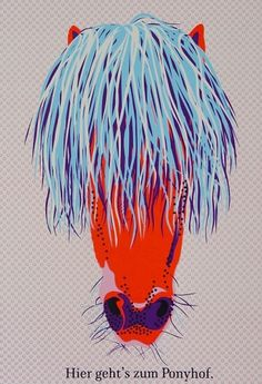 collibri.net #collibri #red #fellerer #print #illustration #marge #pony