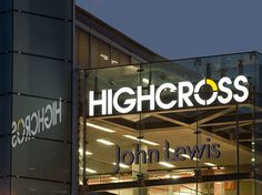 Highcross Leicester We were appointed by Hammerson to design the modern brand identity and create all communications for Leicesters retail p #shopping #marketing #icon #silver #roundul #brand #retail #circle #foil