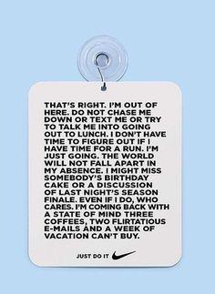 Jay Mug — Gone Running by Nike #print #poster #nike #text #door
