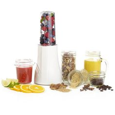 Blend, serve, and store your recipes in a single, glass mason jar. #modern #design #product #industrial #innovative