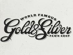 Dribbble - Gold & Silver by Brandon Rike #brandon #logo #rike