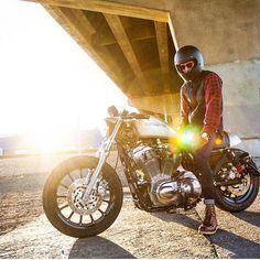 Golden hour 🌅 #WeekendLoading Bobber Chopper Harley Davidson Motorcycle Lifestyle Custom Culture