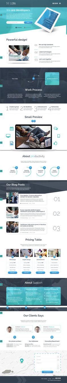 blue, web design, concept, layout