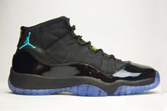 Gamma Blue 11 Air Jordan Men\\\'s Shoes In Black Varsity Maize-#47854-360