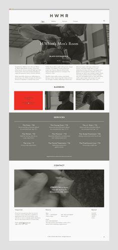 HWMR #website #web #barbershop #erb design