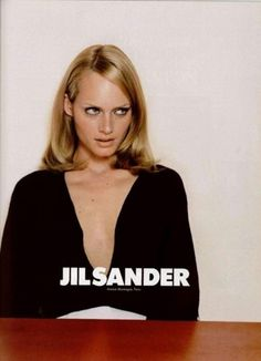 Jil Sander 1995 Campaign #women #layout #typography
