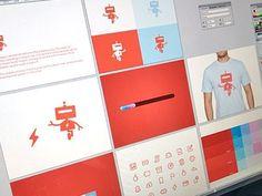 Dribbble - Branding With Bots by Bill S Kenney #robots #logo #design #branding