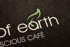 A Touch of Earth Branding on the Behance Network #justin #a #leaf #touch #print #of #earth #cafe #paper #coffee #logo #marimon