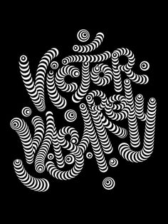 Vasarely lettering on Behance #op #lettering #optical #opart #delgado #design #graphic #tribute #victor #art #sergi #vasarely #typography