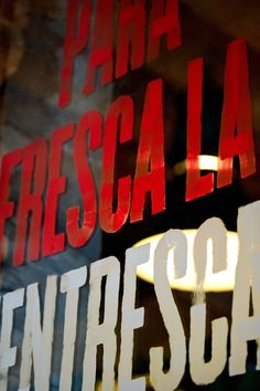 Bar Brutal (Identity, Print) by Lo Siento Studio, Barcelona #red #painted #bold #glass #hand #typography