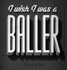 Inspiration | Jordan Lloyd #title #classic #retro #baller #film #typography