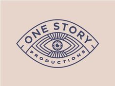One Story Productions Logo by Lauren Dickens #logo #line #drawing #eye