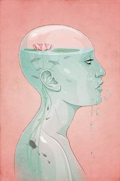 once a day thoughts #water #jason #head #levesque #illustration