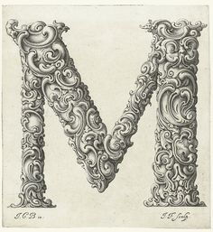An Alphabet of Organic Type (ca.1650) | The Public Domain Review #type #lettering