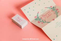 Cute wedding invitation and cards Free Psd. See more inspiration related to Wedding, Mockup, Wedding invitation, Invitation, Love, Template, Paper, Cute, Presentation, Elegant, Mock up, Save the date, Decoration, Cards, Decorative, Date, Marriage, Romantic, Trifold, Engagement, Beautiful, Up, Save, Showcase, Fold, Showroom and Mock on Freepik.
