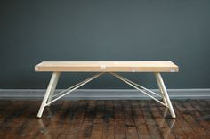 Floor Joist Bench by Whyte #minimalist #design #minimal