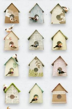Birdhouse_wallpaper | 17 | Products | Studio ditte #ditte #design #wallpaper #studio
