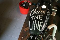 Ornamental Conifer #handlettering #tank #motorcycle