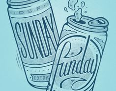 Sunday Funday #beer #lettering #damian #illustration #king #typography