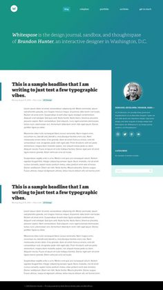 Whitespase wordpress website by Brandon Hunter #layout #minimalist #gradient #web design