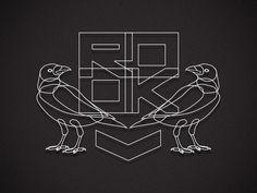 ROOK #rook #branding #b&w #design #bird #crow